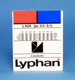L625 LYPHAN Streifen pH 3,0 bis 5,1