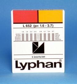 L652 LYPHAN Streifen pH 1,6 bis 3,7