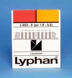 L653-8 - LYPHAN Streifen pH 1,8 bis 3,2
