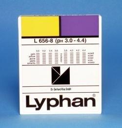 L656-8 - LYPHAN Streifen pH 3,0 bis 4,4