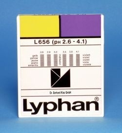 L656 LYPHAN Streifen pH 2,6 bis 4,1