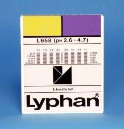 L658 LYPHAN Streifen pH 2,6 bis 4,7