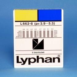 L662-8 - LYPHAN Streifen pH 3,9 bis 5,3