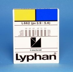 L662 LYPHAN Streifen pH 3,9 bis 5,4