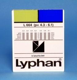 L664 LYPHAN Streifen pH 4,3 bis 6,1