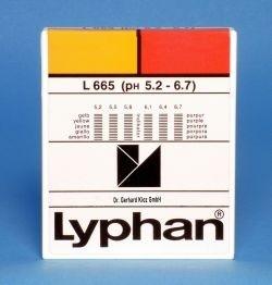 L665 LYPHAN Streifen pH 5,2 bis 6,7