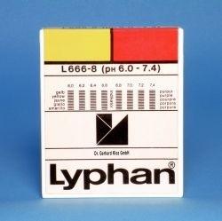 L666-8 - LYPHAN Streifen pH 6,0 bis 7,4