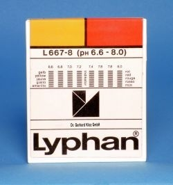 L667-8 - LYPHAN Streifen pH 6,6 bis 8,0