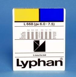 L668 LYPHAN Streifen pH 6,0 bis 7,5