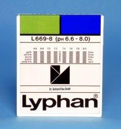 L669-8 - LYPHAN Streifen pH 6,6 bis 8,0