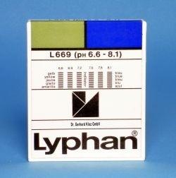 L669 LYPHAN Streifen pH 6,6 bis 8,1