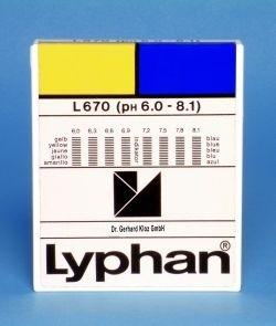 L670 LYPHAN Streifen pH 6,0 bis 8,