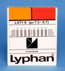 L671-8 - LYPHAN Streifen pH 7,3 bis 8,7