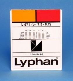 L671 LYPHAN Streifen pH 7,5 bis 8,7