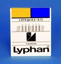 L674 LYPHAN Streifen pH 8,2 bis 9,7