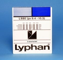 L680 LYPHAN Streifen pH 9,4 bis 10,3