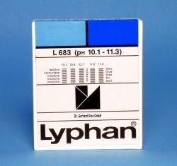 L683 LYPHAN Streifen pH 10,1 bis 11,3